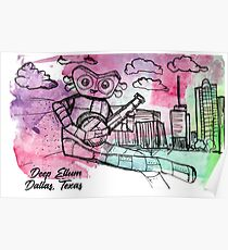Watercolor Robot  Poster
