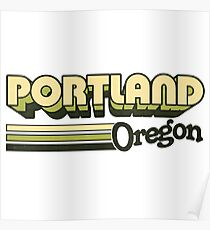 Portland, OR | City Stripes Poster