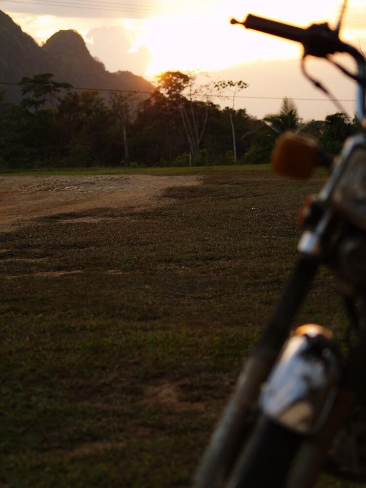 Sunset In Belize by Steve Lindsay