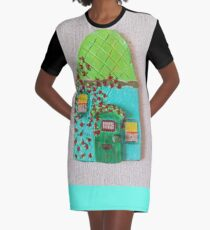 Whimsical House  Graphic T-Shirt Dress