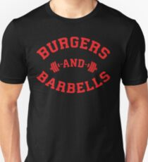 Burgers And Barbells (red) T-Shirt