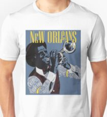 New Orleans, Trumpeter, musician, travel poster T-Shirt