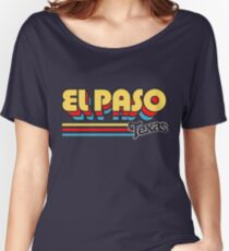 El Paso, TX | City Stripes Women's Relaxed Fit T-Shirt