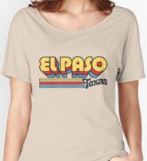 El Paso, TX | City Stripes Women's Relaxed Fit T-Shirt