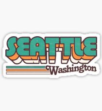 Seattle, WA | City Stripes Sticker