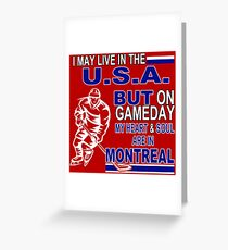 Heart & Soul in Montreal (red) Greeting Card