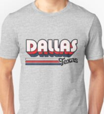 Dallas, TX | City Stripes Unisex T-Shirt