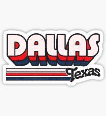 Pegatina Dallas, TX | Rayas de la ciudad