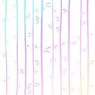 «Bambúes arbolados tropicales del arco iris» de EuGeniaArt