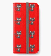Suave Red Bow Tie Cat iPhone Wallet