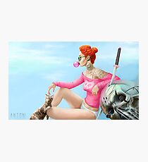 Bubblegum Girl Photographic Print