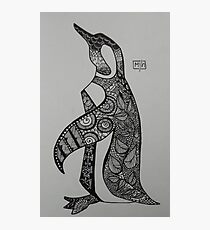 Patterned Penguin  Photographic Print