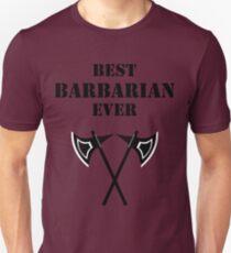 BEST BARBARIAN EVER 5E RPG Rage Class T-Shirt