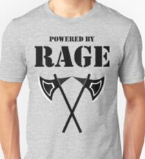POWERED BY RAGE 5E BARBARIAN RPG Class T-Shirt