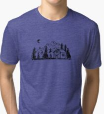 Cabin in the Forest  Tri-blend T-Shirt