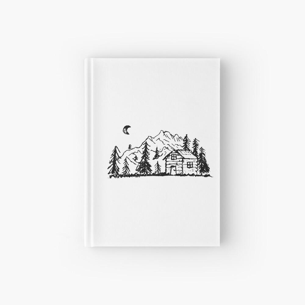 Hütte im Wald Notizbuch