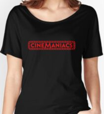 Cinemaniacs LOGO [on black] Women's Relaxed Fit T-Shirt