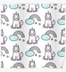 Unicorns and rainbows Poster