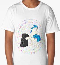 my little pony vinyl scratch dj pon 3 Long T-Shirt