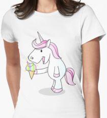 cartoon unicorn with icecream T-Shirt