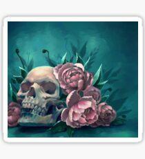Skull and Peonies Sticker
