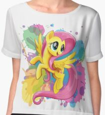 my little pony fluttershy Women's Chiffon Top