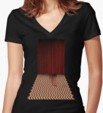 Twin Peaks - Dale Cooper Women's Fitted V-Neck T-Shirt