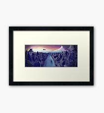 Lake Town Landscape Framed Print