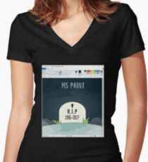 Rip Microsoft Paint Women's Fitted V-Neck T-Shirt