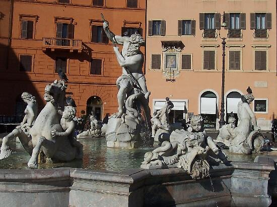 fountain at piazza navona in Rome by chord0
