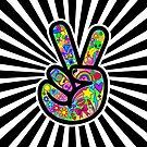 Flippiges Friedenszeichen Starburst von Corey Paige Designs