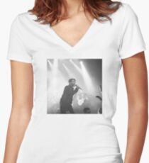 Live in Black and White Women's Fitted V-Neck T-Shirt