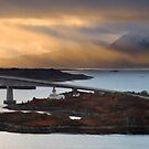 The Isle of Skye Bridge. Sunbeams at Sunset. Inner Hebrides. Scotland. by PhotosEcosse