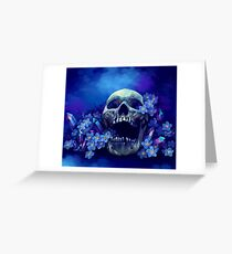 Skull and Forget-me-nots Greeting Card