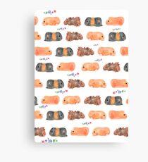 Wheek! Guinea Pig Collage  Canvas Print