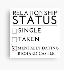 Mentally Dating Richard Castle Canvas Print