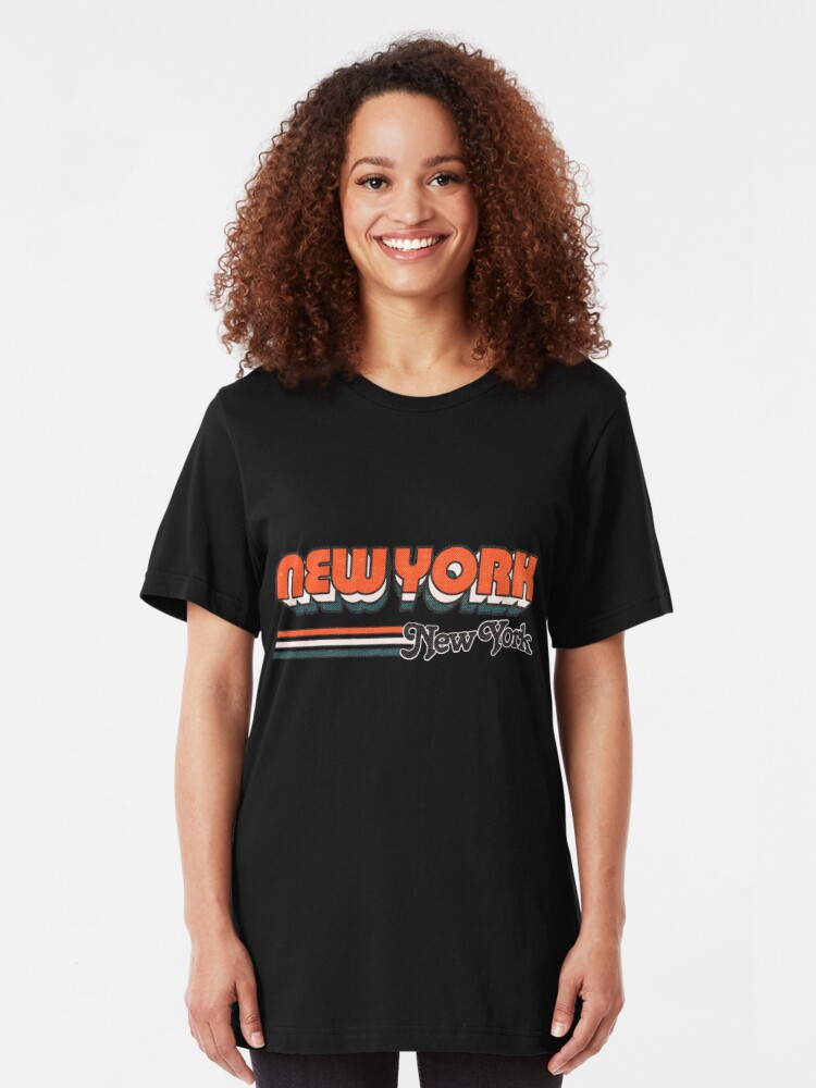 Alternate view of New York, NY | City Stripes Slim Fit T-Shirt