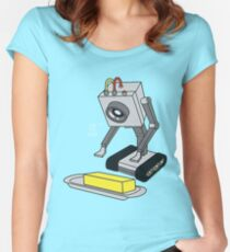 Rick & Morty Pass The Butter Women's Fitted Scoop T-Shirt