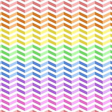 "Rainbow ""3D"" Zigzag Stripes by Pencil-Princess"