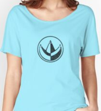 """Power Rangers Classic """"Green Ranger"""" Crest (Black) Women's Relaxed Fit T-Shirt"""