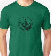 """Power Rangers Classic """"Green Ranger"""" Crest (Black) T-Shirt"""