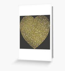 Golden hart Greeting Card