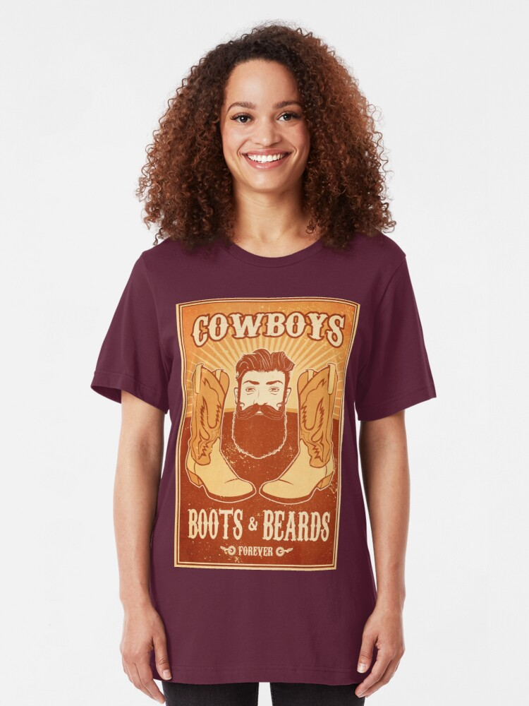 Phenomenal Cowboys Boots And Beards Design T Shirt By Wretchedginger Schematic Wiring Diagrams Amerangerunnerswayorg