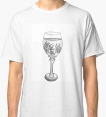 Wine Glass Aquarium Classic T-Shirt