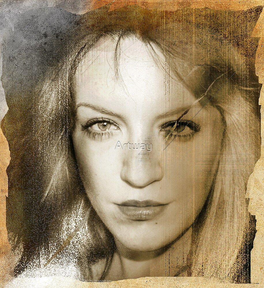 Sepia Self Portrait 2 by Artway