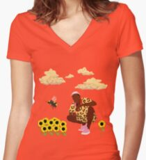 Tyler, The Creator - Flower Boy Women's Fitted V-Neck T-Shirt
