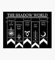 The shadow World - Shadowhunters Photographic Print