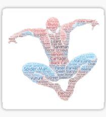 Spider-man Word Cloud Sticker