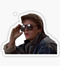 marty mcfly Sticker