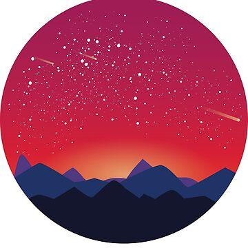 Space landscape - orange by imgabsveras
